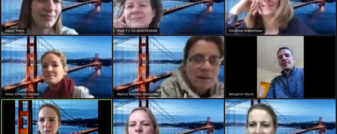 Video Konferenz während des Corona-Stillstands